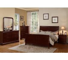 Louis Phillipe Cherry Bedroom Set
