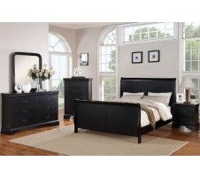 Louis Phillipe Black Bedroom Set
