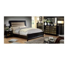 Golva 4pc. Queen Bedroom set in black