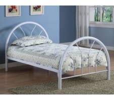 Morell Twin Bed Frame-white