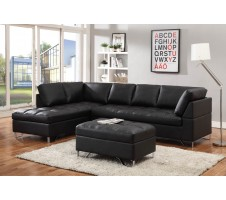 Metro Sectional with Storage Ottoman