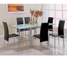 Sunrise Frosted Glass Dining Set