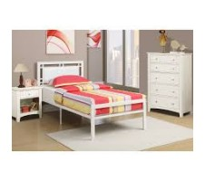 Emerald white Twin Bed frame