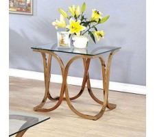Rene end table in champagne