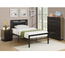 Emerald twin Bed in Black