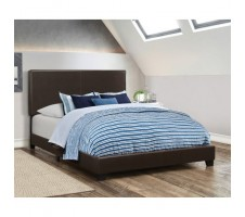 Ireland Queen Bed Frame in Dark Brown