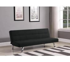 SALE! Skyler Black Fabric Sofa Bed