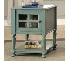 Jaida Vintage Side Table in antique teal