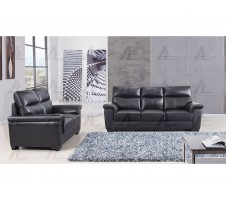 EK515-BK Genuine Leather Sofa and Loveseat Set