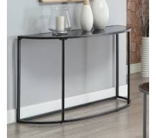 Gunmetal Glass Top Console Table