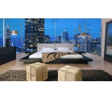 Zuri Modern Queen Platform Bed with 2 nightstands
