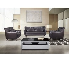 Kimball 3pc. Sofa, Loveseat, Chair set in dark brown