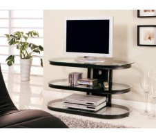 Darby Contemporary Metal and Glass TV Stand