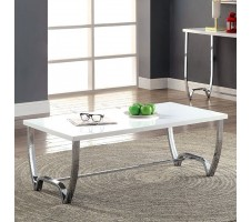 Trina Coffee Table in Glossy White