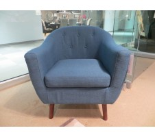Roy Mid Century Chair in blue
