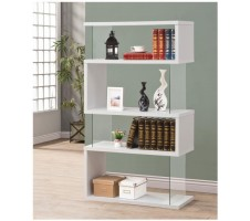 Illusions Bookcase in White