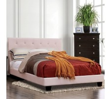 Velen Full Platform Bed in Pink