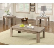 Urbana weathered brown 3pc. Coffee Table set