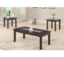 Crendall  3 Piece In a Dark Walnut Coffee Table/End Table Set