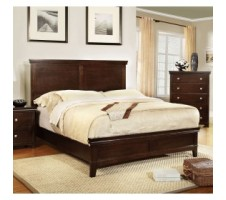 Adelson Queen Bed in brown cherry