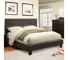 Perdell Queen Fabric Platform Bed in gray