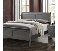 Louis Philippe Queen Bed Frame in grey