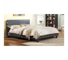 Aris Queen platform Bed with Speaker and Blutooth in grey
