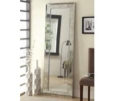 Aria Floor Mirror in silver