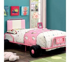 Power Racer Twin Bed Pink/White