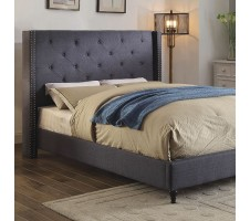 Malibu Wing Back Queen Platform Bed Frame