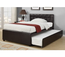 Carly Full bed with Trundle in Espresso