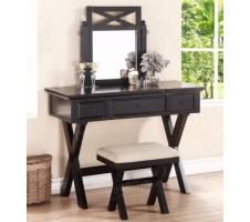 Aberly Vanity Set with Stool
