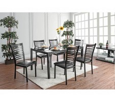 Arwen 5pc Dining Set in Black