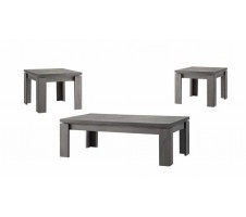 Byron 3pc. weathered Grey Coffee table set