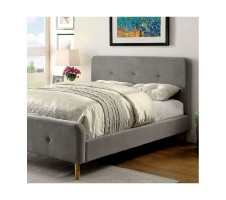 Flannery Queen platform bed in grey