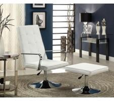 Infinity Modern Swivel Chair and Ottoman