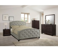 Alston Queen Platform Bed in grey