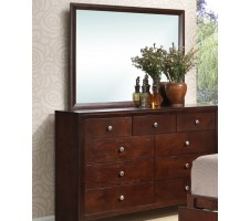 Newburgh 9 Drawer Dresser in Brown Cherry Finish