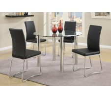Zacky 5pc. Dining Set in black
