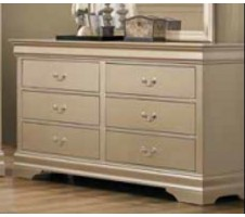 Louis Phillipe Dresser in Metallic Champagne