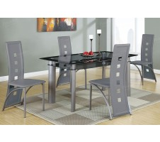 Luton 5pc. Dining Set with Grey Chairs