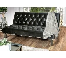 Cootehill Adjustable Velvet Sofa Bed in Black