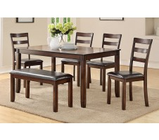 SALE! Atria 6pc. Dining Set with Bench