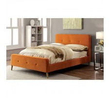 Flannery Queen platform bed in orange