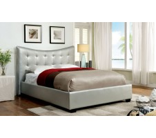 Lovato Queen Platform Bed Frame in silver