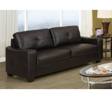 Joplin Leather Sofa (dark brown)