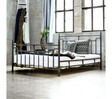 Mckenzie Industrial Queen Bed Frame