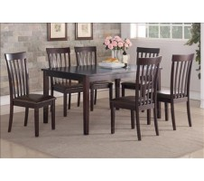 Anette 7pc. Dining Set in espresso