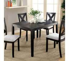 Gersham 5pc. Dining Set in brushed black finish