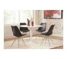 Maddison 5pc. Dining set with black chair